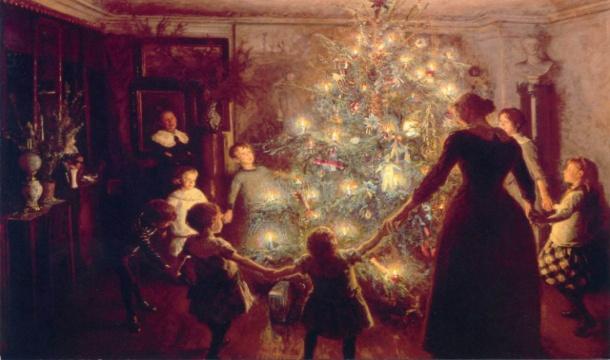 F:\все материалы для защиты 1 категории Настя\Работа с родителями\Классный час Сказочное рождество\Показ картинок\елка у буржуев.jpg
