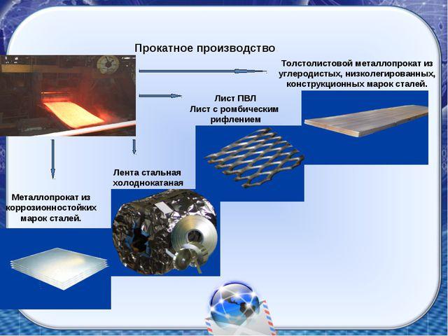 Прокатное производство. Толстолистовой металлопрокат из углеродистых, низколе...