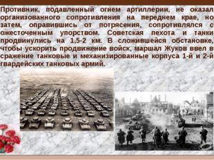 Противник, подавленный огнем артиллерии, не оказал организованного сопротивле
