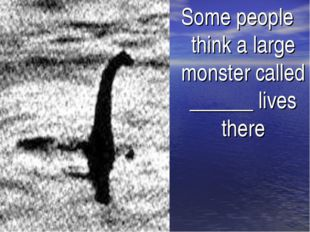 Some people think a large monster called ______ lives there