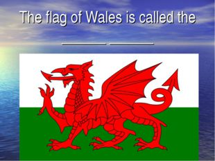 The flag of Wales is called the ______ ______