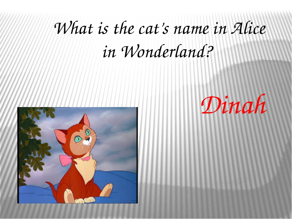 What colour is the Cheshire Cat? Pink