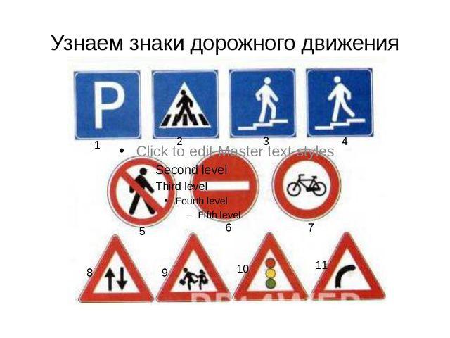 Узнаем знаки дорожного движения 1 2 3 4 5 6 7 8 9 10 11