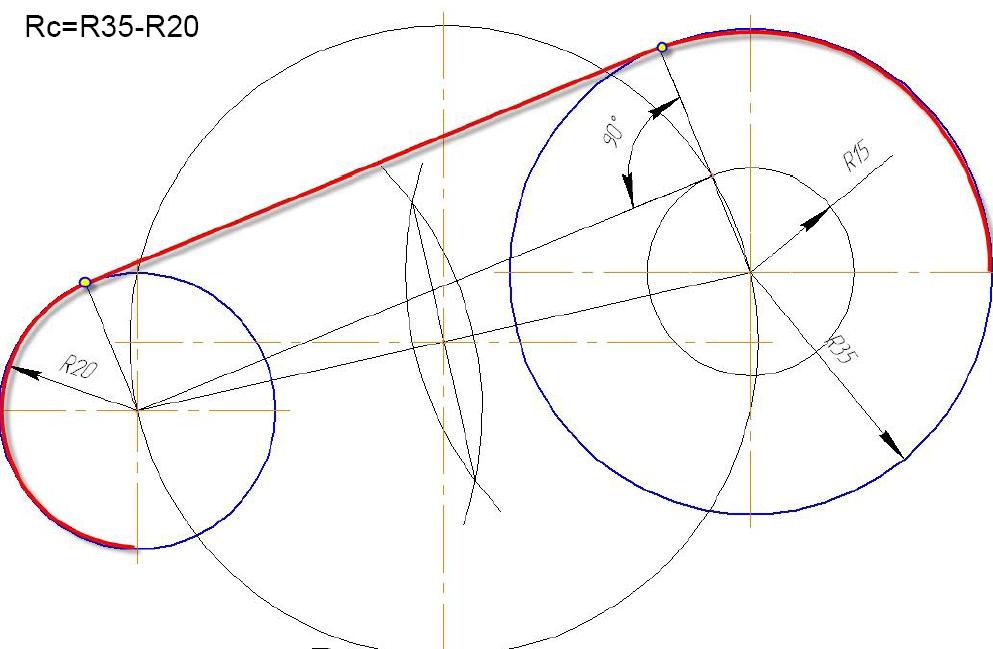 D:\колледж\инжененрная графика, черчение\практич раб граф\Пр 11\сопряжение внешнее.bmp
