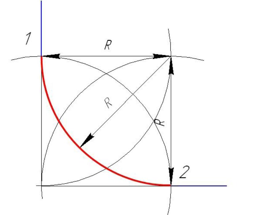 D:\колледж\инжененрная графика, черчение\практич раб граф\Пр 11\сопряжение прям угол.bmp