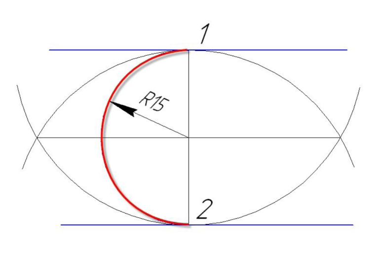D:\колледж\инжененрная графика, черчение\практич раб граф\Пр 11\сопряжение парал пр.bmp