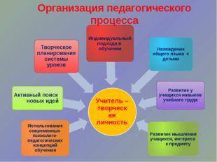 Организация педагогического процесса