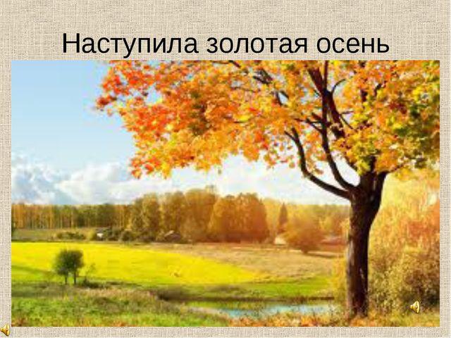 Наступила золотая осень