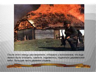 После этого немцы рассвирепели, отбирали у колхозников, что еще можно было от