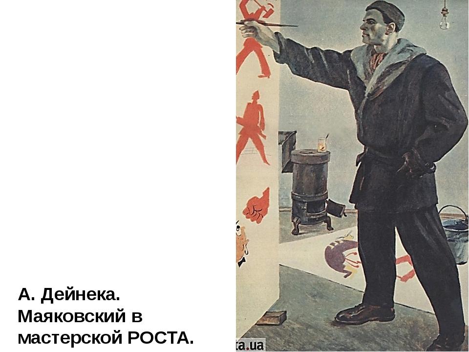 А. Дейнека. Маяковский в мастерской РОСТА.
