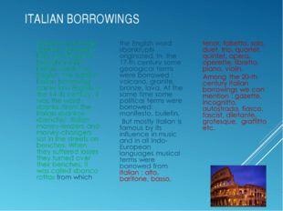 ITALIAN BORROWINGS
