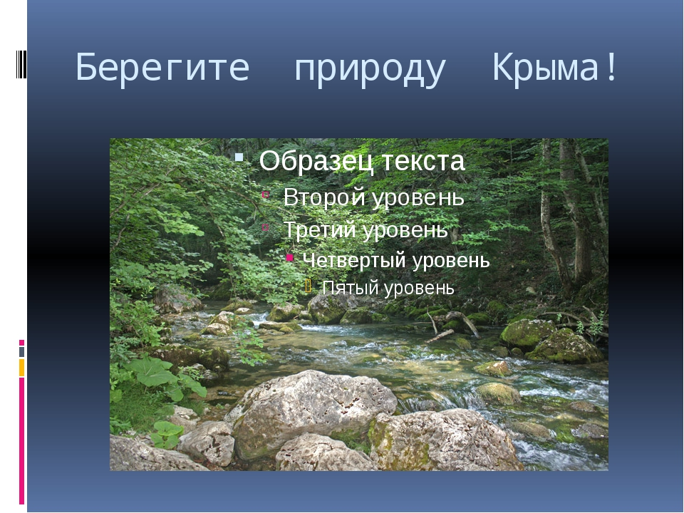 Берегите природу Крыма!