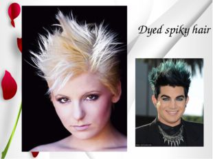Dyed spiky hair