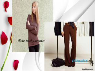 Polo-neck sweater trousers