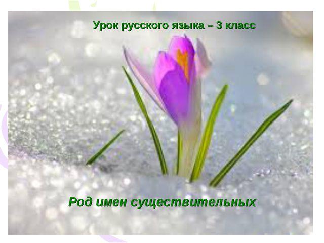 Урок русского языка – 3 класс Род имен существительных