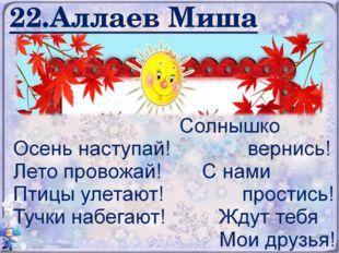 22.Аллаев Миша