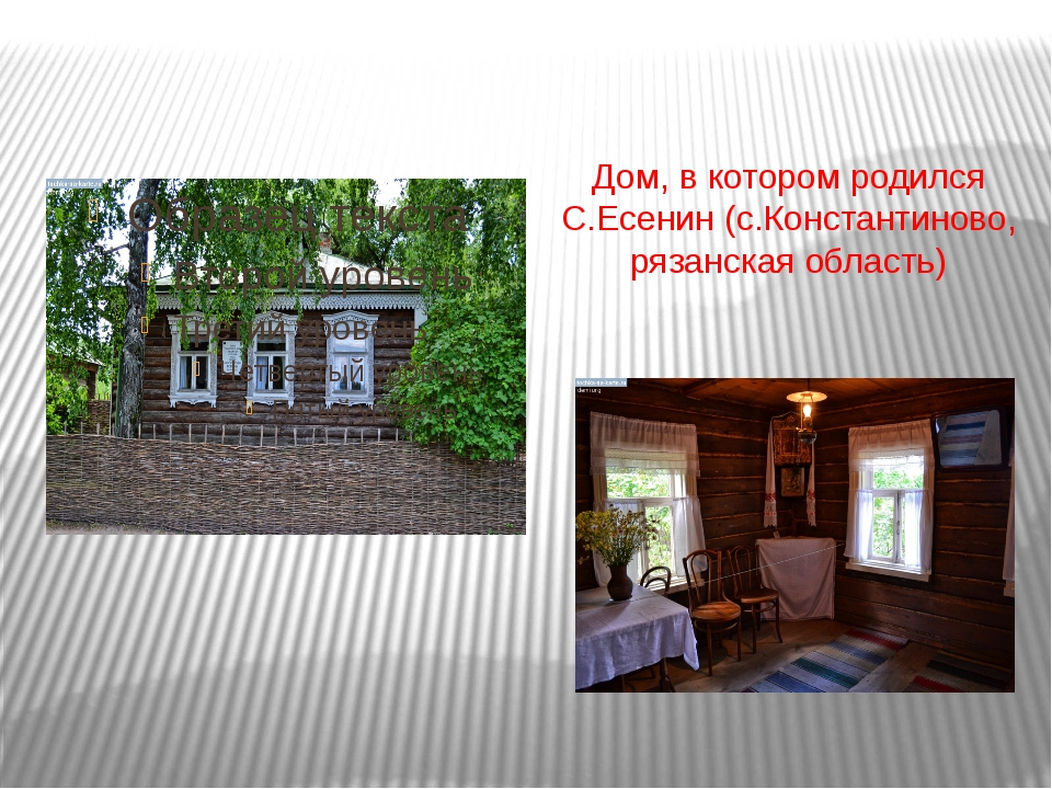 Дом, в котором родился С.Есенин (с.Константиново, рязанская область)