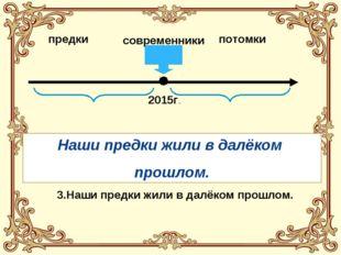 предки современники потомки 2015г. 1. Наши предки живут в далёком будущем. 2.