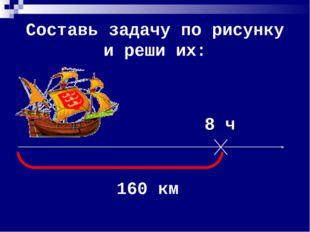 Составь задачу по рисунку и реши их: 8 ч 160 км