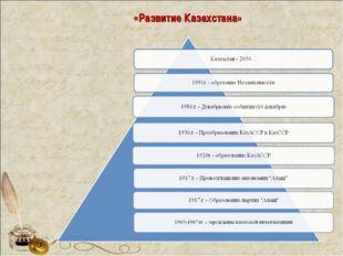 «Развитие Казахстана»