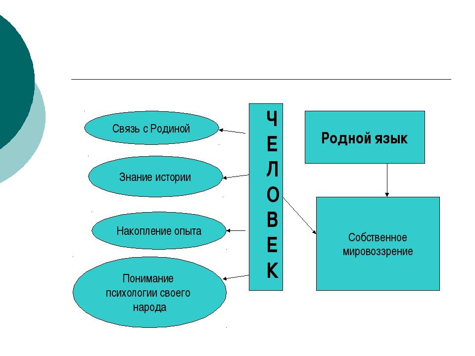 Родной язык Собственное мировоззрение Связь с Родиной Знание истории Накоплен...