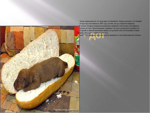 Хот - дог Корни американского хот-дога ведут в Германию. Немцы доказали, что...