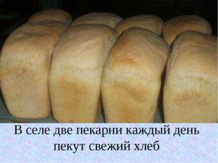 В селе две пекарни каждый день пекут свежий хлеб * В селе две пекарни каждый