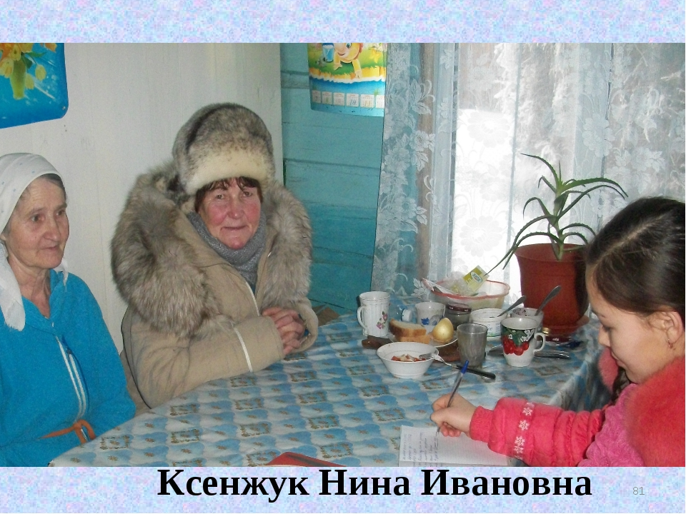 * Ксенжук Нина Ивановна Ксенжук Нина Ивановна