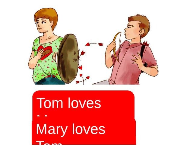 Tom loves Mary. Mary loves Tom. Сравнение с русским языком