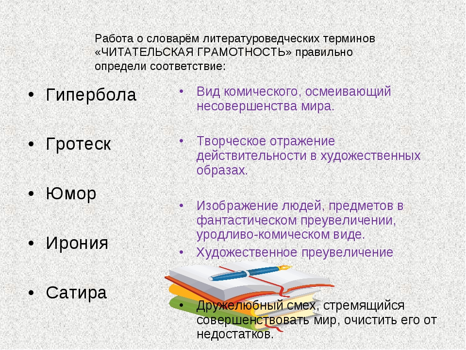 Работа о словарём литературоведческих терминов «ЧИТАТЕЛЬСКАЯ ГРАМОТНОСТЬ» пра...