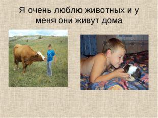Я очень люблю животных и у меня они живут дома