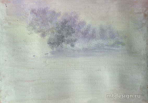 Как нарисовать деревья гуашью
