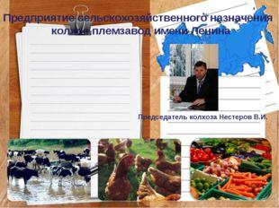 Предприятие сельскохозяйственного назначения колхоз-племзавод имени Ленина Пр