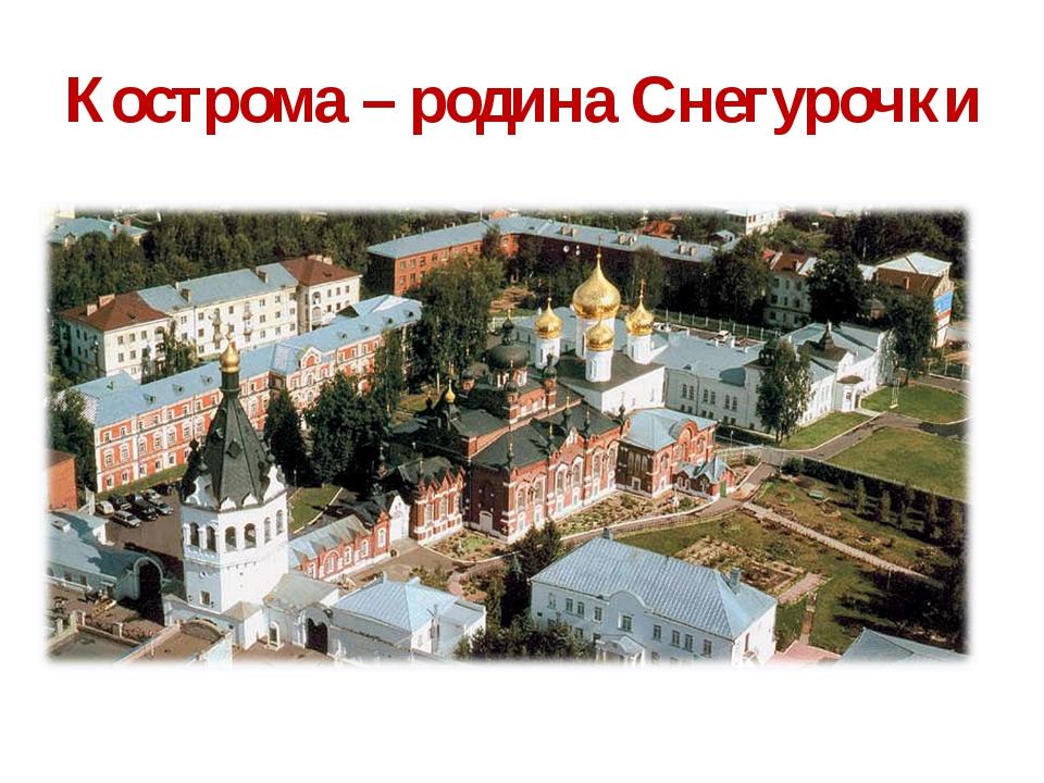 Кострома – родина Снегурочки