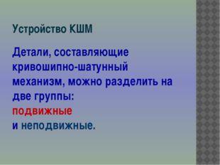 Устройство КШМ 25.04.2013 Разработал Трунов А.И. ГОУ СПО ЯО Переславский поли