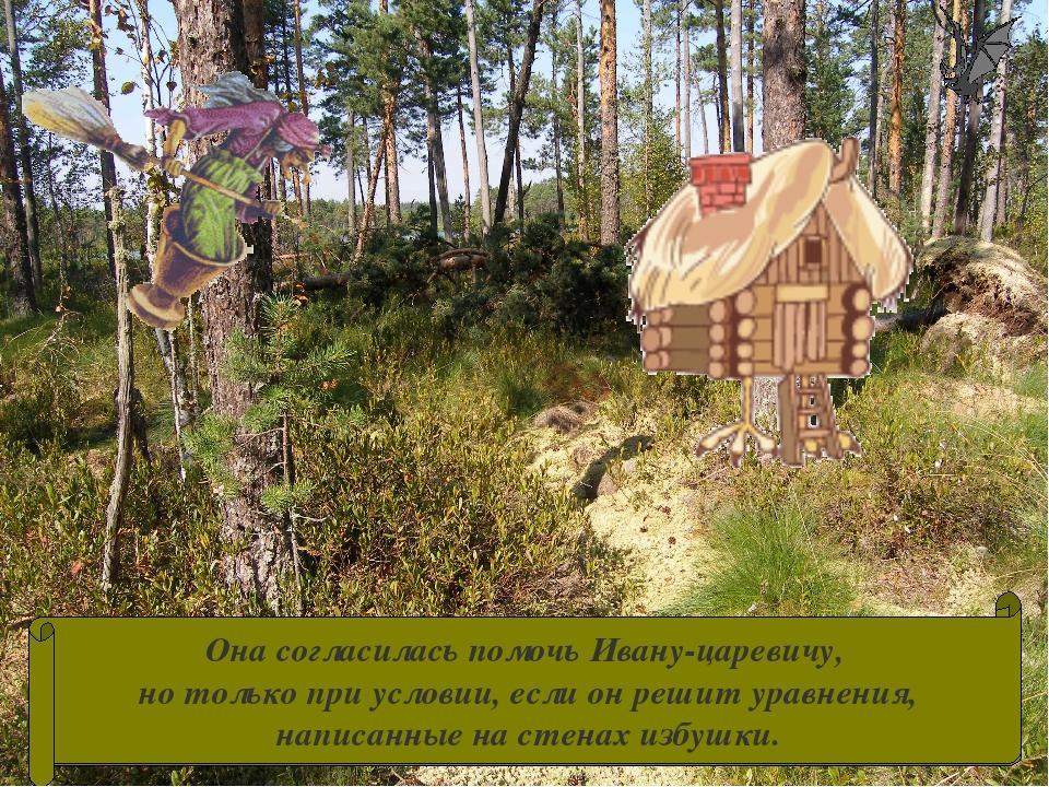 Долго ехал Иван-царевич по лесу, пока дорога не привела его к избушке Бабы-Яг...