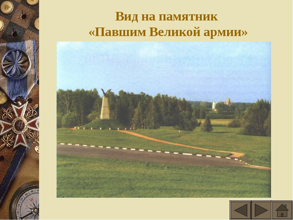 Вид на памятник «Павшим Великой армии»