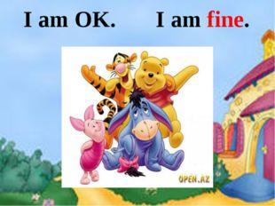I am OK. I am fine.