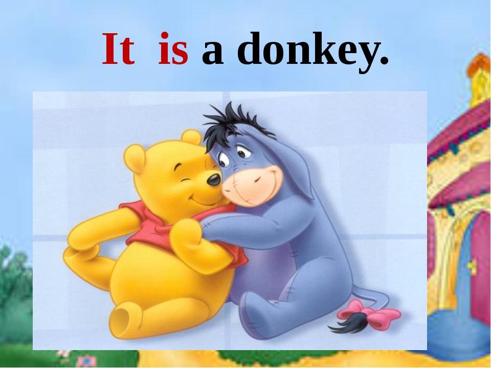 It is a donkey. It is a dog.