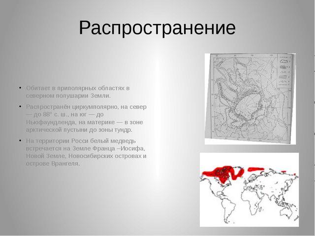 Распространение Обитает в приполярных областях в северном полушарии Земли. Ра...