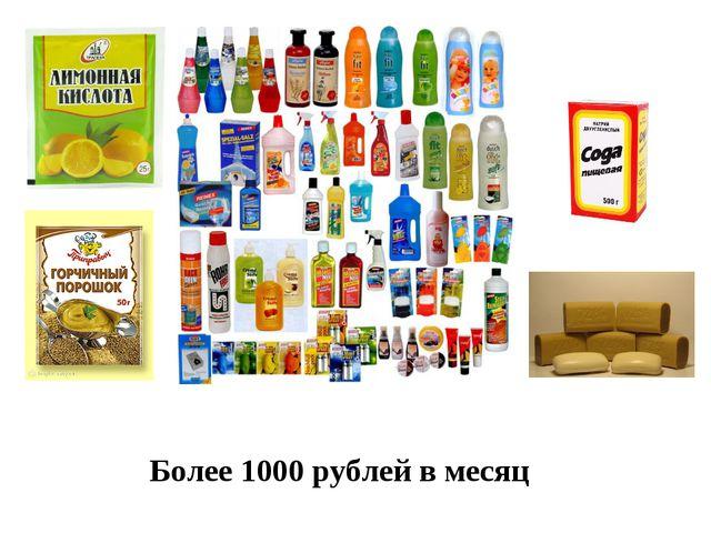 Более 1000 рублей в месяц