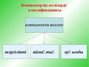Компьютерлік желілердің классификациясы