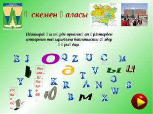 Өскемен қаласы Шашыраңқы түрде орналасқан әріптерден интернет тақырыбына байл