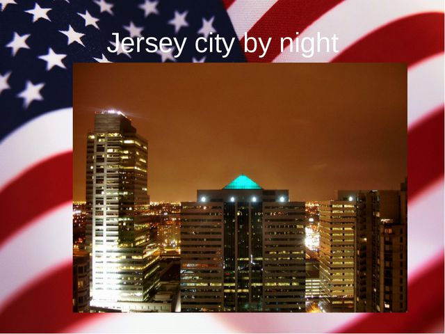Jersey city by night