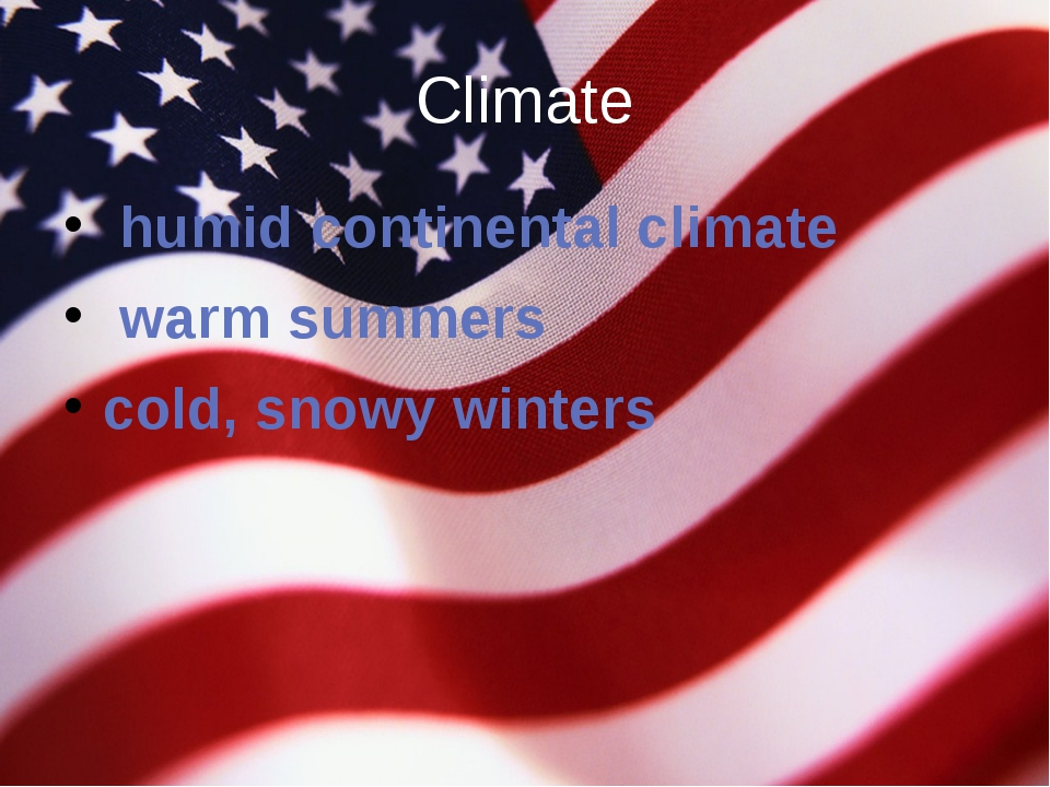 Climate  humid continental climate  warm summers cold, snowy winters