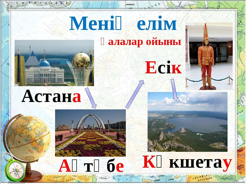 Менің елім қалалар ойыны Астана Ақтөбе Есік Көкшетау