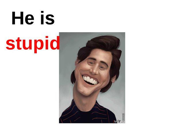 He is stupid