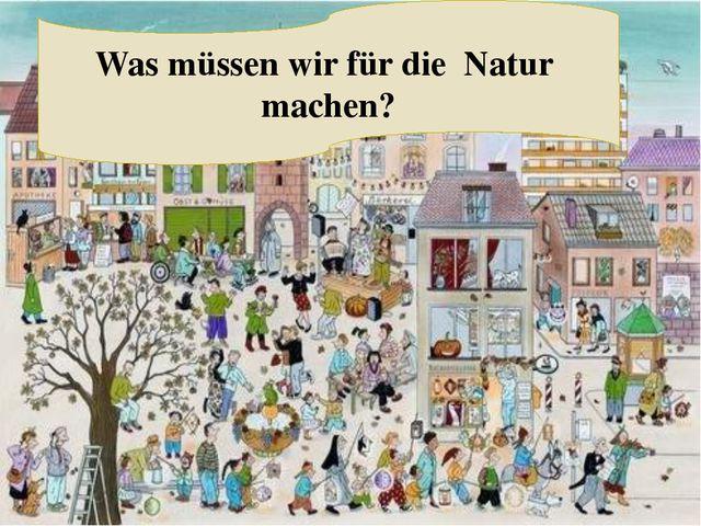 Was müssen wir für die Natur machen?