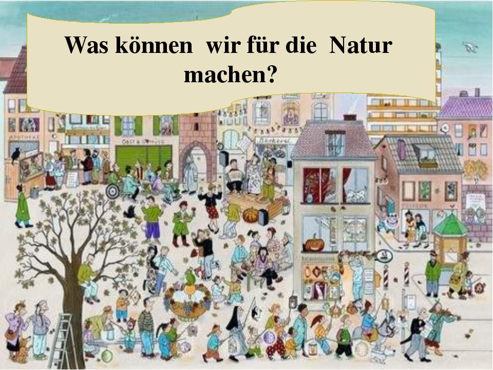 Was können wir für die Natur machen?