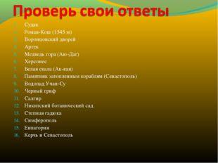 Судак Роман-Кош (1545 м) Воронцовский дворей Артек Медведь гора (Аю-Даг) Херс
